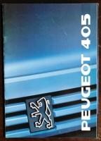 Folder/brochure  - Peugeot 405 - 1989