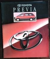 Folder/brochure - Toyota Previa - 1992
