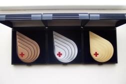 Set van Sanquin / bloedbank penningen.