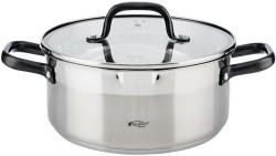 RVS kookpan met glazen deksel, Ø24x10.5cm, 4 liter - serie…