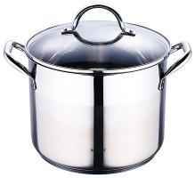 RVS kookpan met deksel (8,2 liter)  Alleen deze week 10% ex…