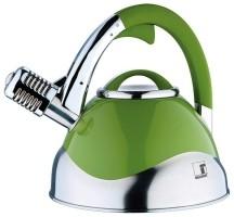 Roestvrijstalen microfoon-fluitketel (3 liter) groen  Allee…