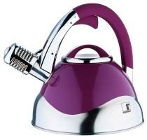 Roestvrijstalen microfoon-fluitketel (3 liter) lila  Alleen…