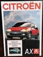 Folder/brochure - CITROËN AX - 1988