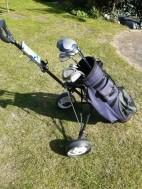 Complete golfset met trolley en 5 ballen