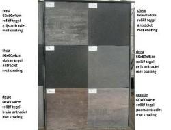 17249 diverse kleuren NIEUWE terrastegels 60x60x4cm 80x80x4…