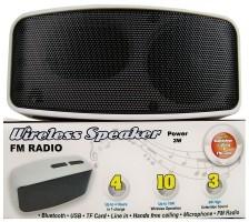 Compacte Bluetooth speaker met radio  Alleen deze week 10%…