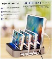 Oplaadstation voor 4 apparaten - 4 USB poorten  Alleen deze…