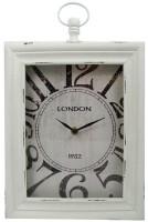 "Wand / tafelklok ""London"" 30x24x6 (wit)  Alleen deze week 1…"