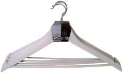 Set van 4 kledinghangers wit  Alleen deze week 10% extra ko…