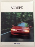 Folder/brochure - Hyundai Scoupe