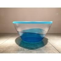 Tupperware eleganzia schaal hoog blauw