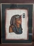 Schilderij Egyptische afbeelding /Lijst Salamander