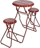 Bartafel met 2 stoelen - rood  Alleen deze week 10% extra k…