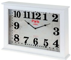 "Wand / tafelklok ""Paris"" 40x30x8cm  (wit)  Alleen deze week…"