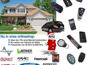 Handzenders voor garage deuren