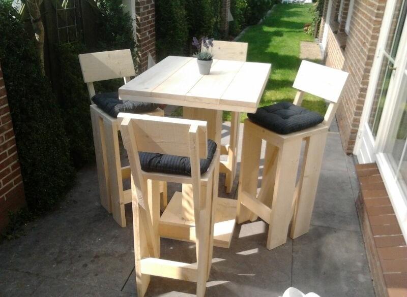 Bar set steigerhout