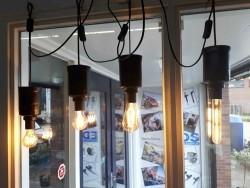 Industriële sfeerlamp hang of stamodel bij EDS in Beilen