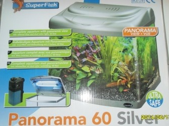 Panorama black & Silver aquarium!