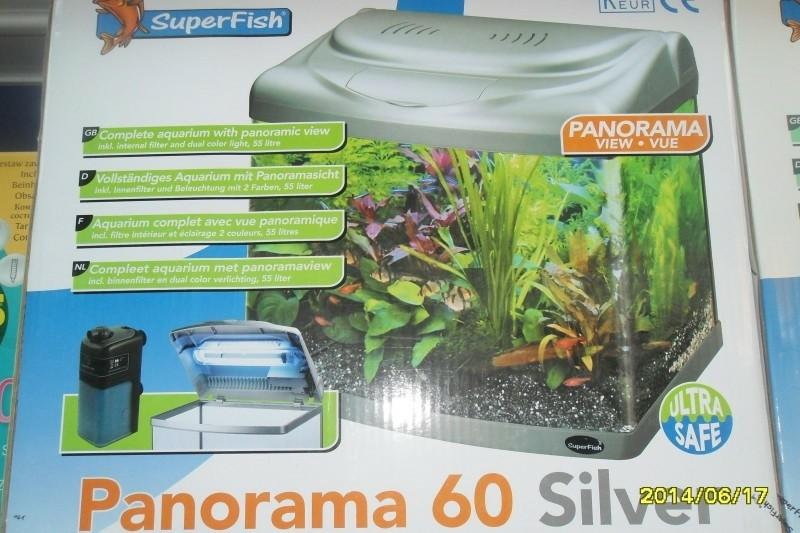 Panorama black & Silver aquarium!
