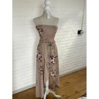 Strapless bloemen jurk