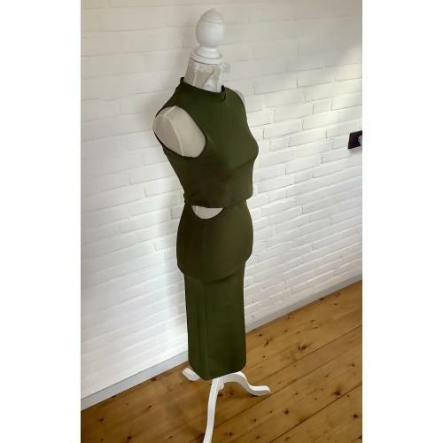 Mooie strakke groene jurk