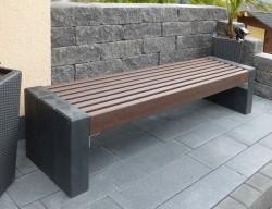 Kunststof Bank 200 cm breed HL Bruin zwarte combinatie 2020