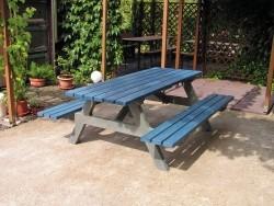 Kunststof picknicktafel SS 103 in bicolor grijs blauw 200 x…