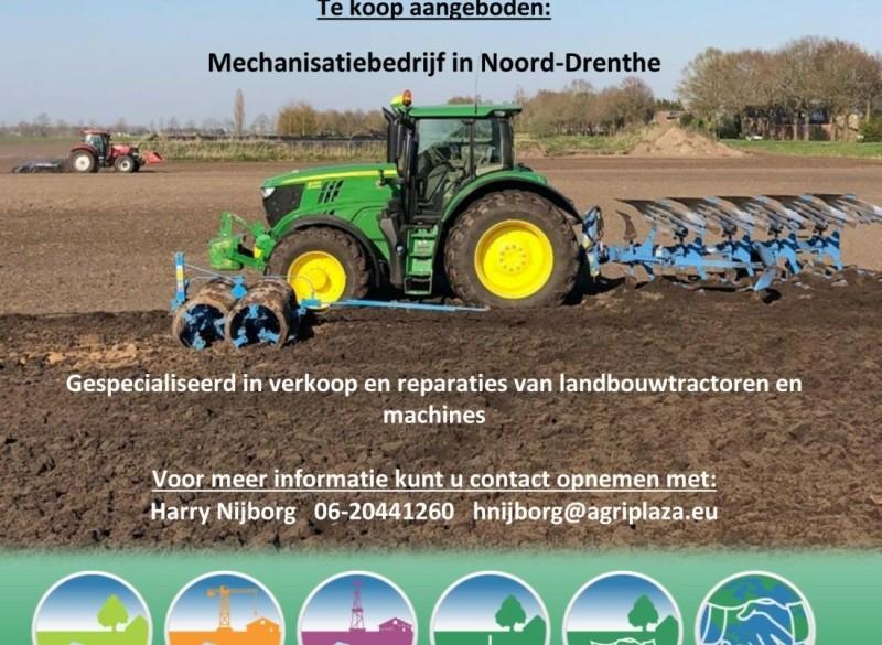 Mechanisatiebedrijf te koop in Noord-Drenthe
