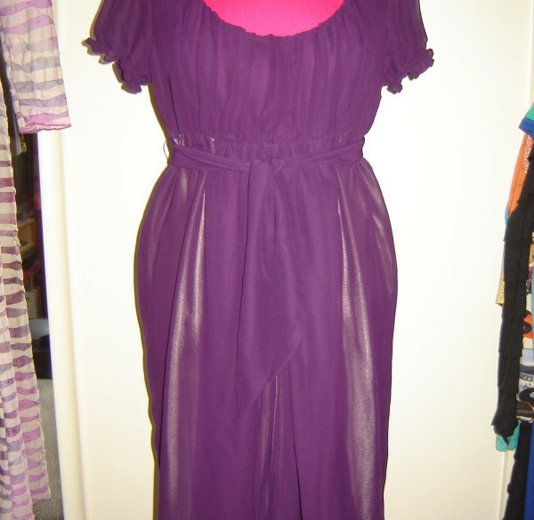 Aubergine jurkje van Yaya