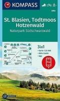 Wandelkaart 898 St. Blasien, Todtmoos, Hotzenwald Kompass