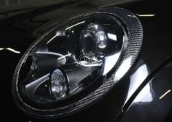 carbon koplamp rand cover Mini R56
