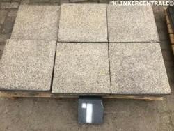 20175 nette GEBRUIKTE terrastegels zandkleur 40x40x4cm beto…