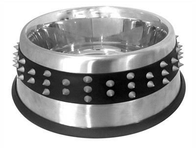 Croci voerbak staal studs rubber 20,5 CM 850 ML