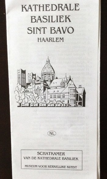 Folder - Kathedrale Basiliek Sint Bavo - Haarlem