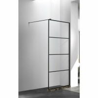 Douchewand Boss & Wessing Limited Black 60x200 cm 8mm Gefra…