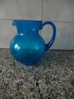 E 1 Mooie blauwe kan; kan 3 liter in (kunststof)