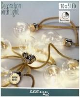 Jute touwslinger - 10 lamps - 2.25m  Alleen deze week 10% e…