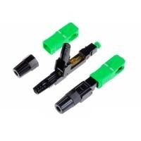 10 PCS FTTH SC APC Single-Mode Fiber Optic Quick Connector(…