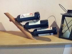 Wijnrek voor 3 flessen wijn van hout, zonder flessen