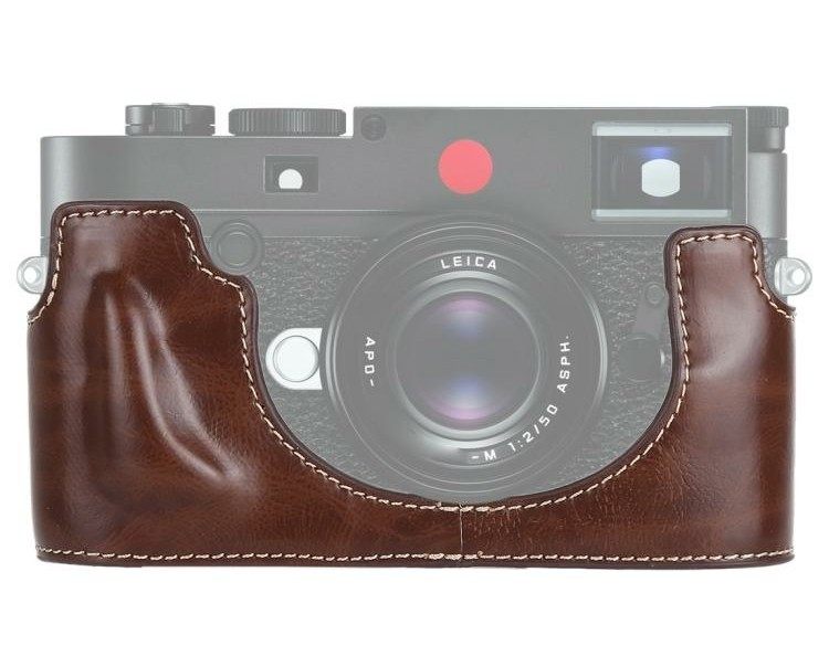 1/4 inch Thread PU Leather Camera Half Case Base for Leica…