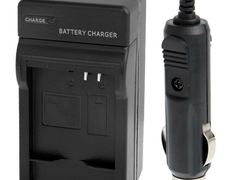 Digital Camera Battery Car Charger for Panasonic BCJ13E(Bla…