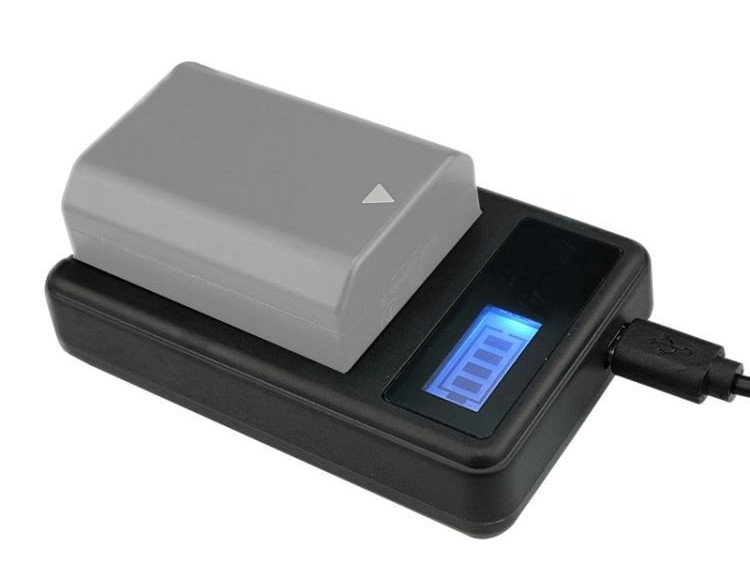 Digital LCD Display Battery Charger with USB Port for Sony…