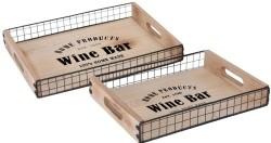 """Dienbladen """"Wine Bar"""" - 2 stuks  Alleen deze week 10% extra…"""