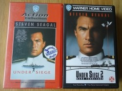 """Films """"Under Siege"""" en """"Under Siege 2"""" op nieuwe VHS-video."""