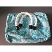 O bag classic binnentas aqua + witte touwhengsels