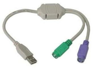USB naar 2 x PS/2 Adapter - Gratis Bezorgd