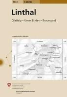 Topografische Wandelkaart Zwitserland 1173 Linthal Glattalp…
