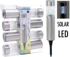 Solarlampen LED - RVS + Glas - Set van 4  Alleen deze week…