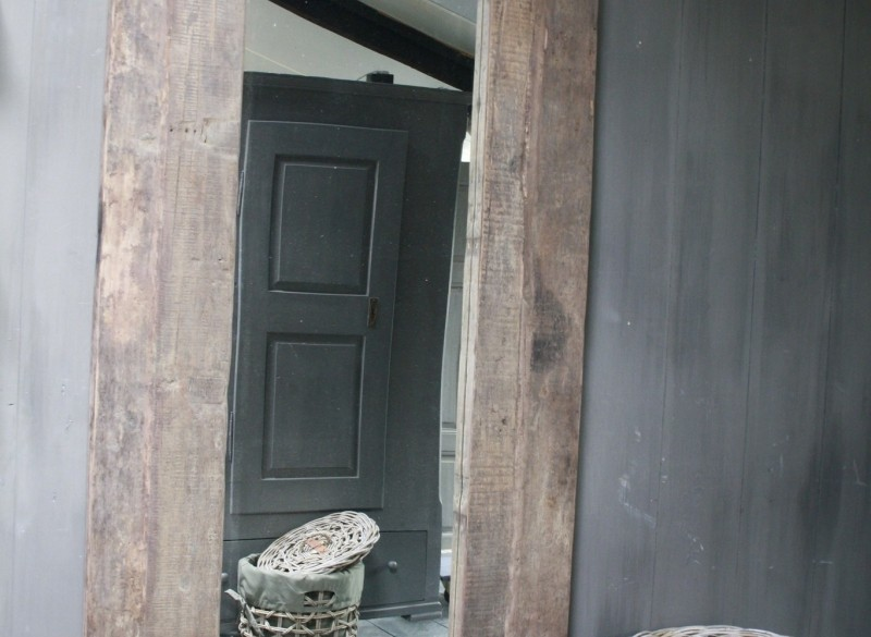 Spiegel oud hout 100 x 200 cm Bassano